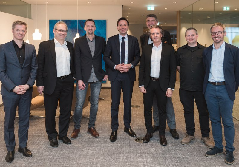 WELL done: The ATP Team together with the client, Christoph Kasslater, at the official opening ceremony. Photo: Markas