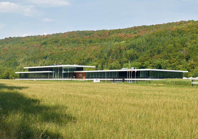 As a free-standing ensemble, the IWC building complex slips harmoniously into the landscape. Photo: ATP/Jantscher