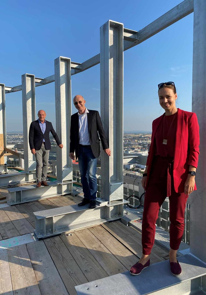 from left to right: CEO of ATP Vienna Horst Reiner, Heinz Lindner, and Lead Project Manager Angelika Welkovits. Photo: ATP