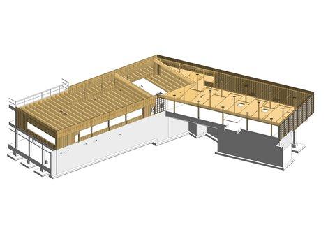 Modell Holzbau. 3D-Ansicht: ATP