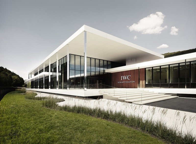Integrally designed by ATP Zurich: IWC Manufacturing Center, entrance area. Photo: Adrian Bretscher/Getty Images for IWC