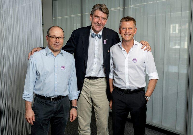 Кристоф Цаугг,  Zaugg, Директор fabsolutions, вместе с Кристофом М. Ахаммером, Главой холдинга ATP, и Маттиасом Верле, Партнёром ATP. Фото: ATP/Mint/Soland