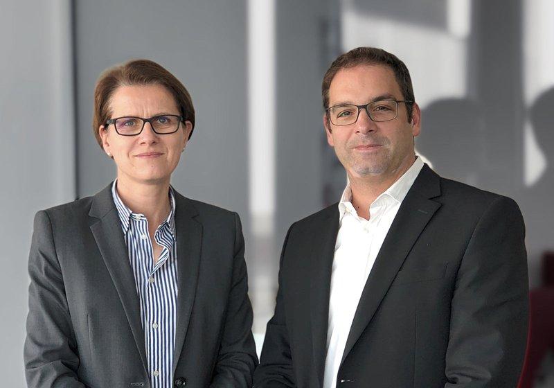 Ein starkes Team für Frankfurt: Solveig Hillebrecht und Harald Stieber. Foto: ATP