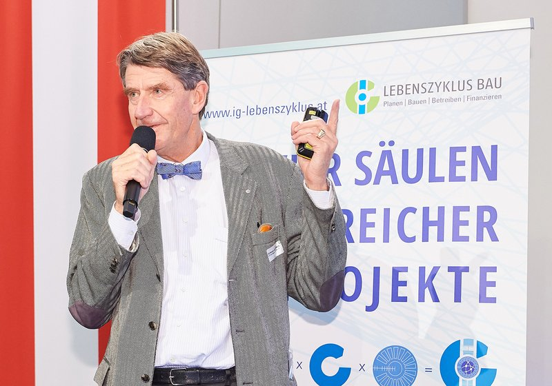 ATP CEO Christoph M. Achammer is an initiator and board member of IG Lebenzyklus Bau. Photo: Leo HAGEN Fotografie