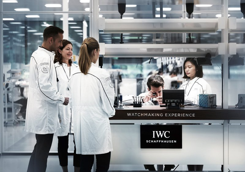 Transparent production. The production of components, movements and cases in an area of 13,500 square meters. Photo: Adrian Bretscher/Getty Images for IWC