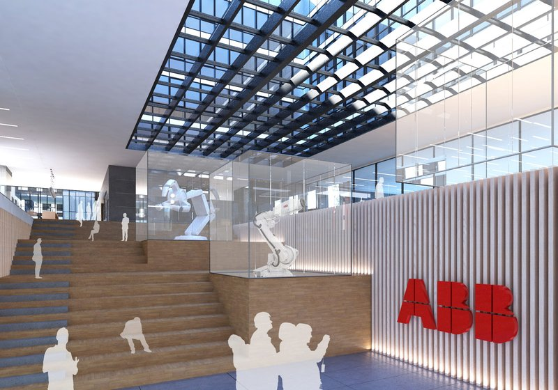 "The building makes use of the entire ""portfolio"" of the technology company ABB. Visualization: ATP"