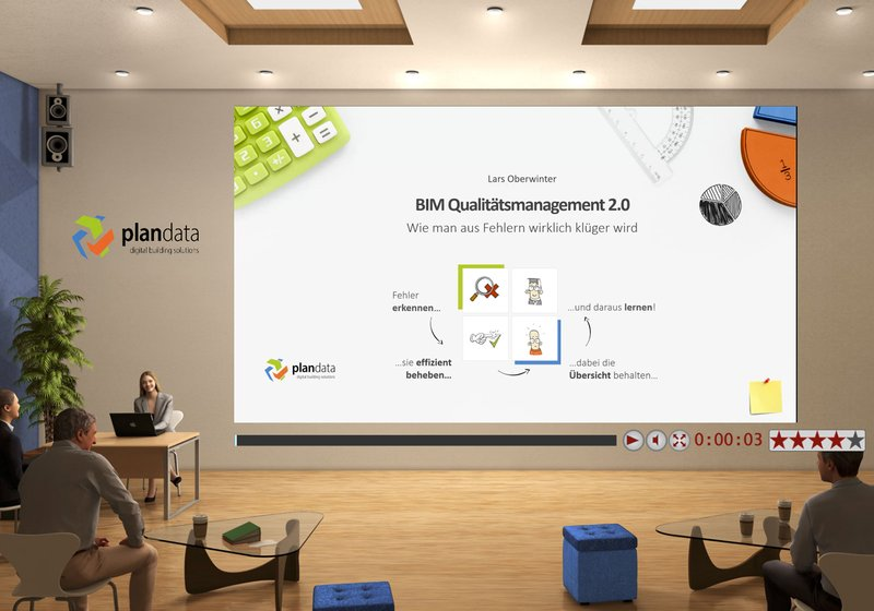 The lecture from Lars Oberwinter on BIM Quality Management 2.0. Image: SOLID