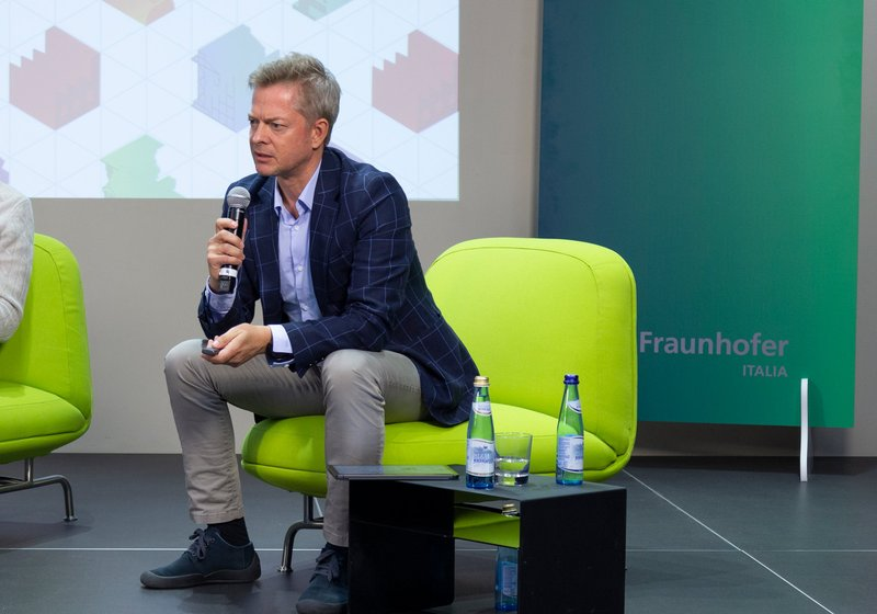 Martin Lukasser at the anniversary event of Fraunhofer Italia. Photo Fraunhofer Italia