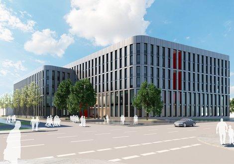 So könnte der zukunftsgerichtete Mannheimer ABB-Standort bald aussehen. Visualisierung: ATP
