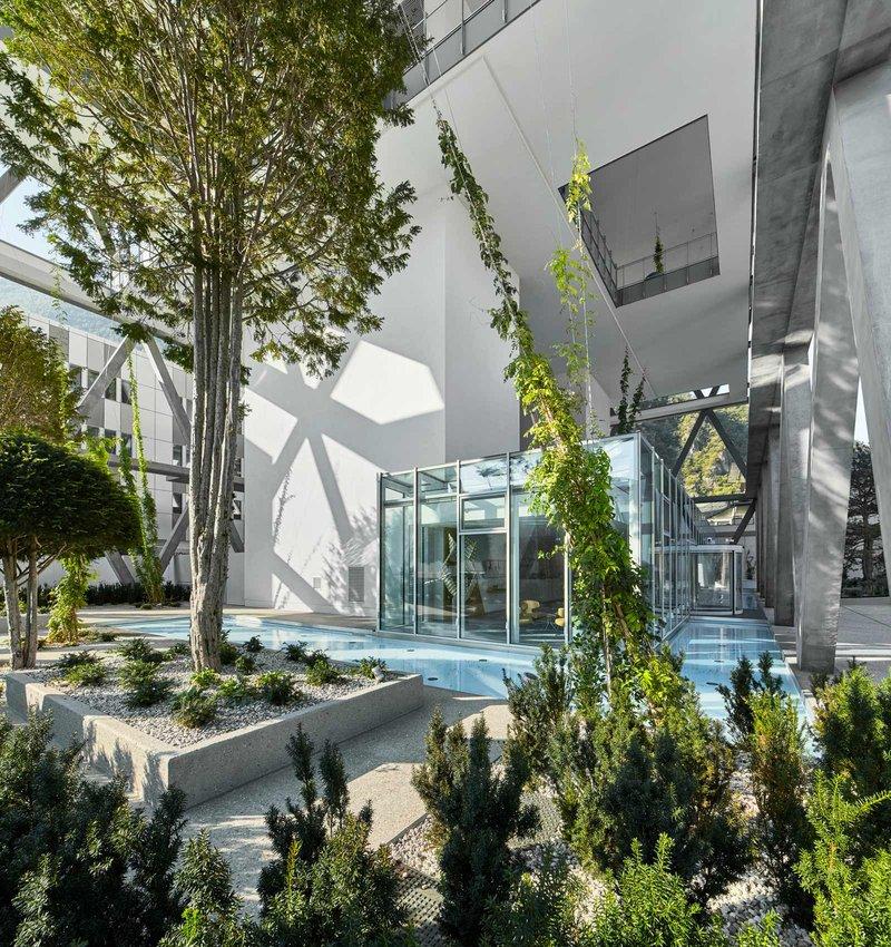 Unten ohne (geschlossene Geschosse) bietet das Markas HQ Offenheit und Helligkeit. Foto: ATP/Becker