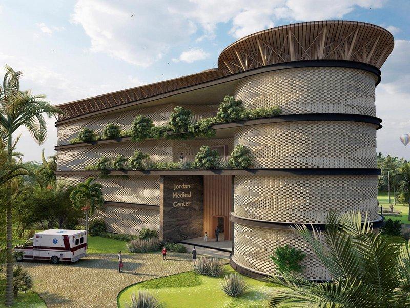 Так выглядит палата Jordan Medical Center в Гане. Визуализация: HTL-Imst