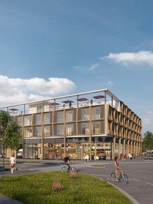 Stimmige Verbindung von Altstadt und Flussufer durch Hotel und Wohnhaus. Visualisierung: ATP