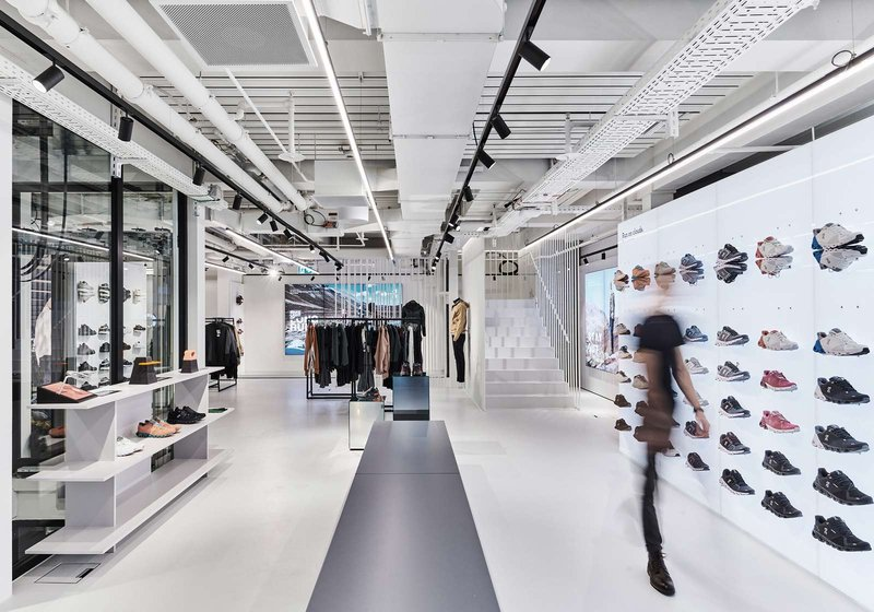 In the Sports House, Mint Architecture impressively presents sport brands and the sporting world. Photo: Mint Architecture