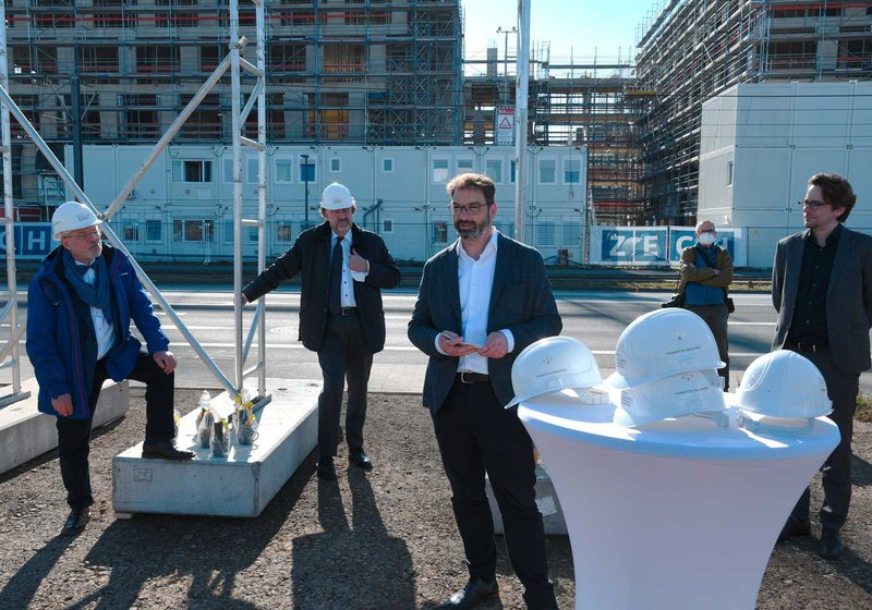 Harald Stieber, Managing Director of ATP Frankfurt, at the groundbreaking ceremony. Photo: KVNO