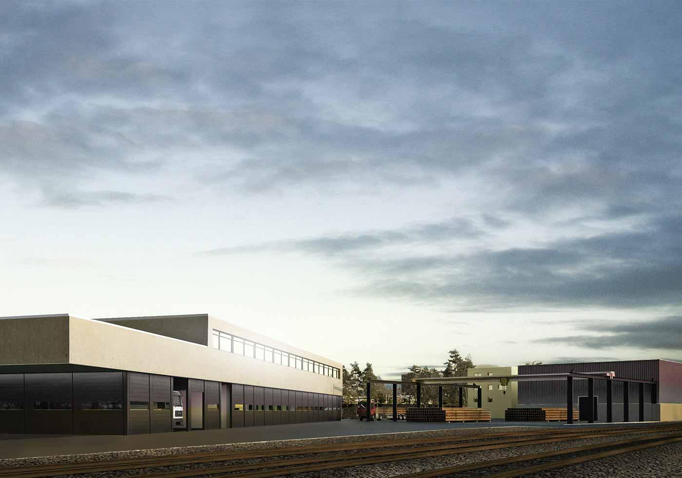 Grundsteinlegung bei den Basler Verkehrs-Betrieben