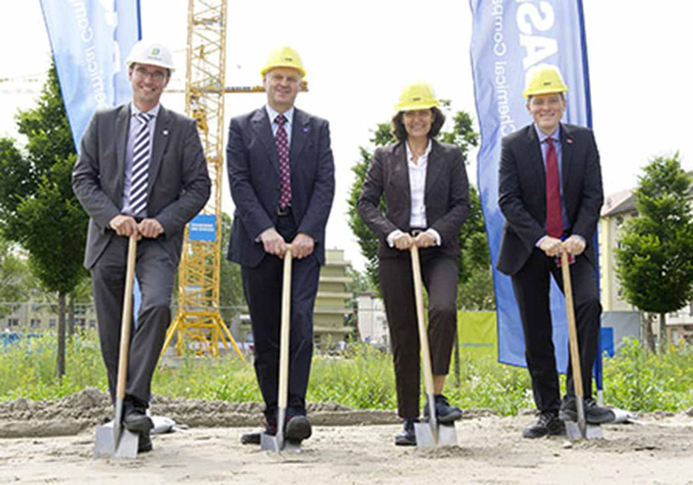 BASF Ludwigshafen, Groundbreaking Ceremony