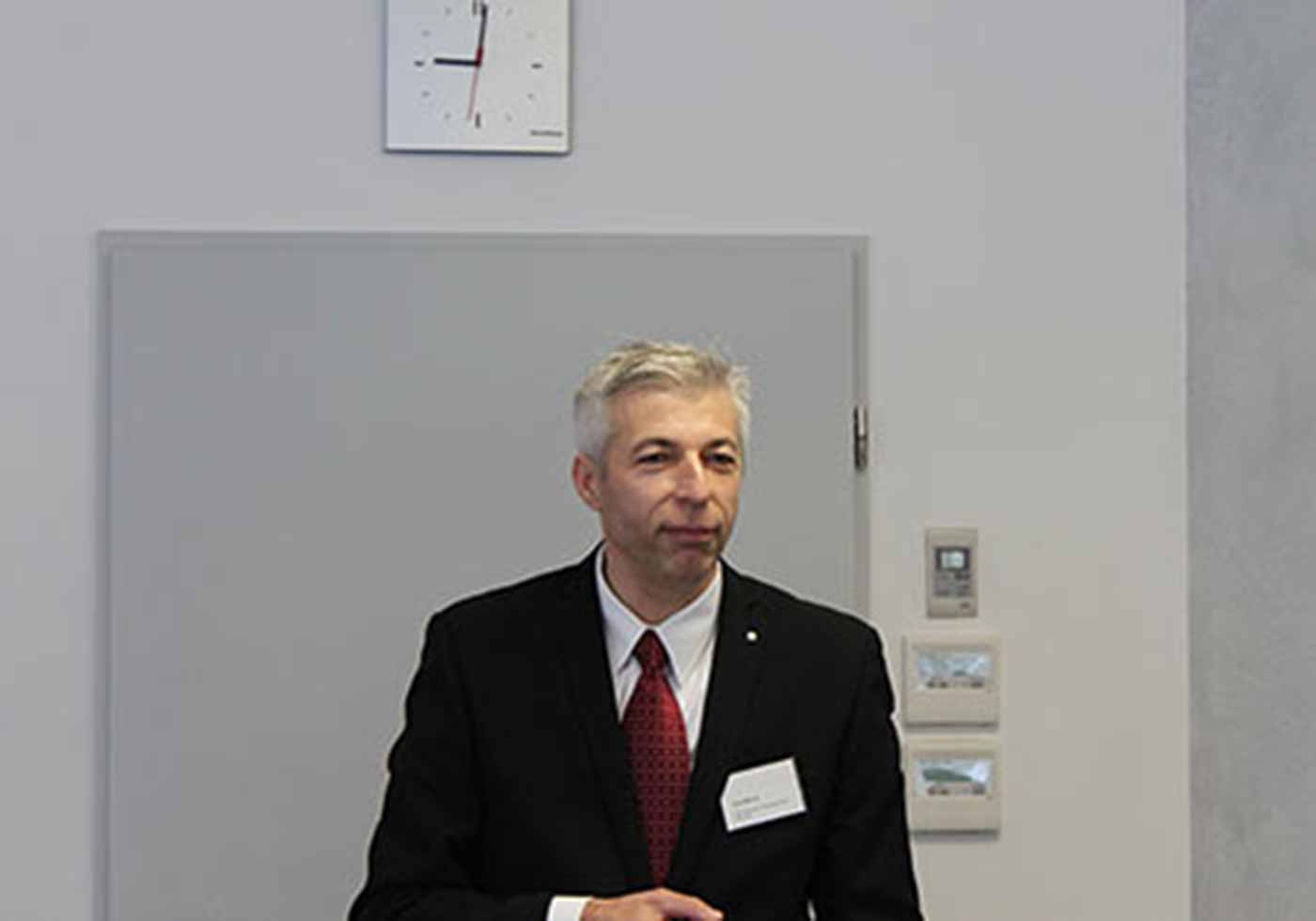 Gerd Maurer spoke at an event organised by the AGI Süd