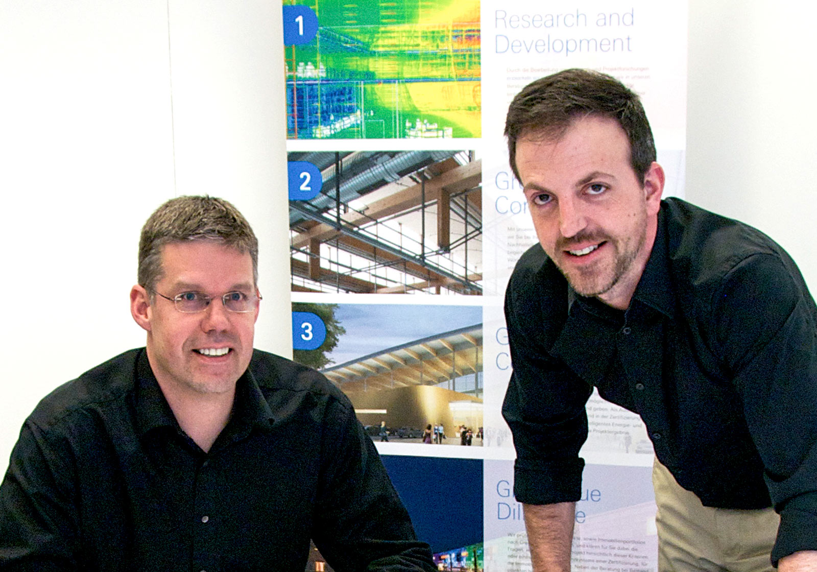 ATP sustain Managing Director Jens Glöggler (l) in Munich and Michael Haugeneder in Vienna celebrate five successful years of researching development and certification. Photo: ATP