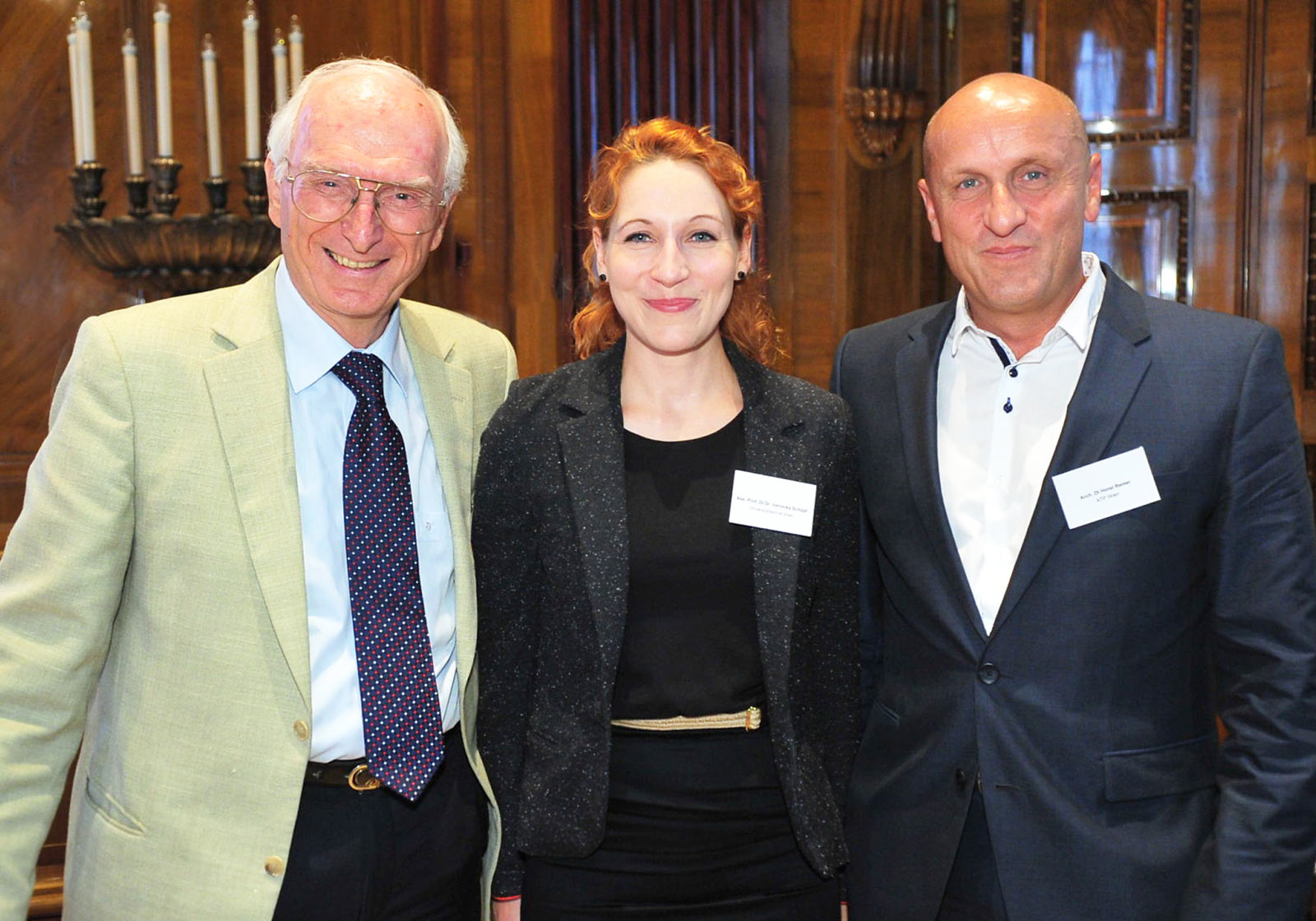 "Horst Reiner, ATP partner in Vienna (r.) was invited as an expert on the subject of ""Multisensory Design"". Photo: Geberit"