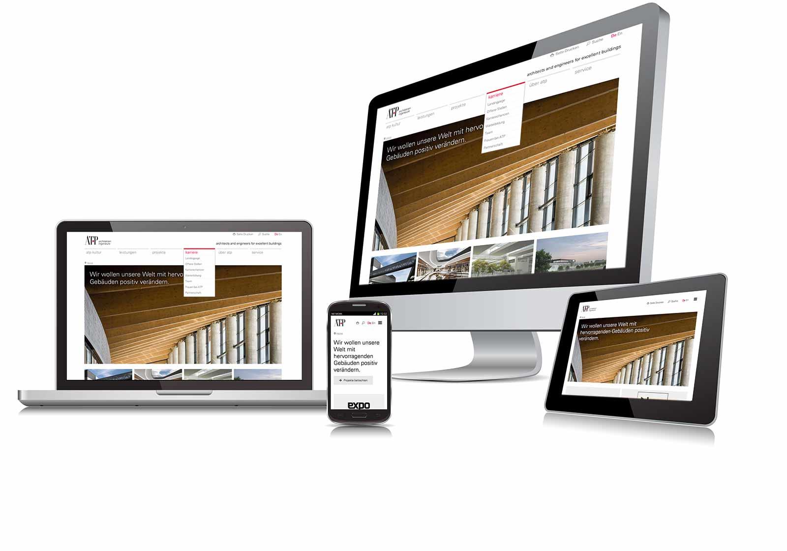 Die neue ATP Homepage ist responsive… Foto: ATP