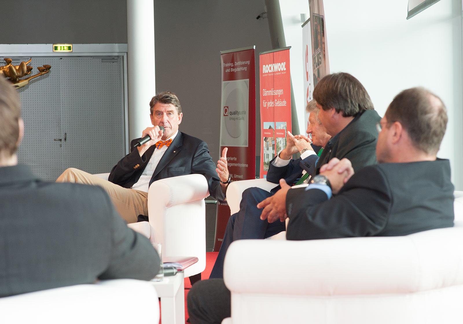 ATP CEO, Prof. Christoph M. Achammer im Gespräch. Foto: Milena Krobath