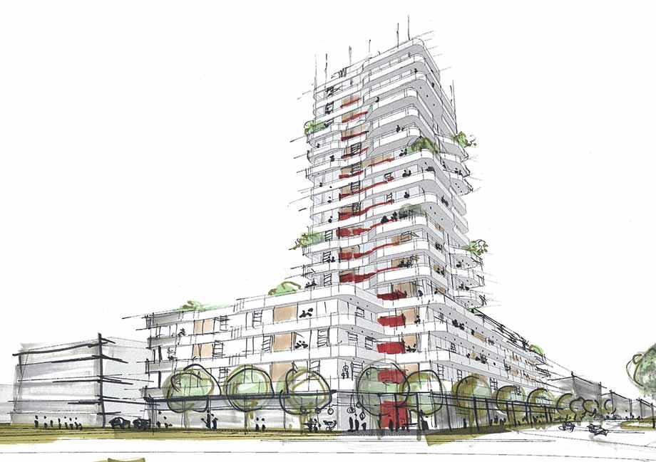 Многофункциональный комплекс IN-TOWER, Ингольштадт, Германия