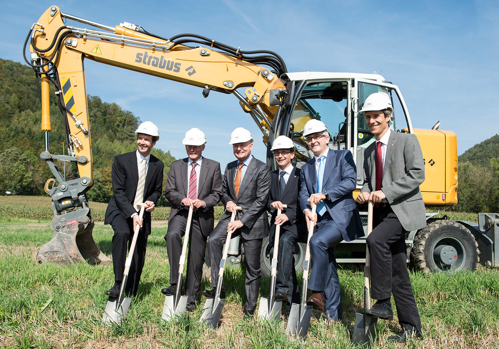 The management of IWC Schaffhausen and politicians during the groundbreaking ceremony for the new production building. Photo: PHOTOPRESS/Ennio Leanza