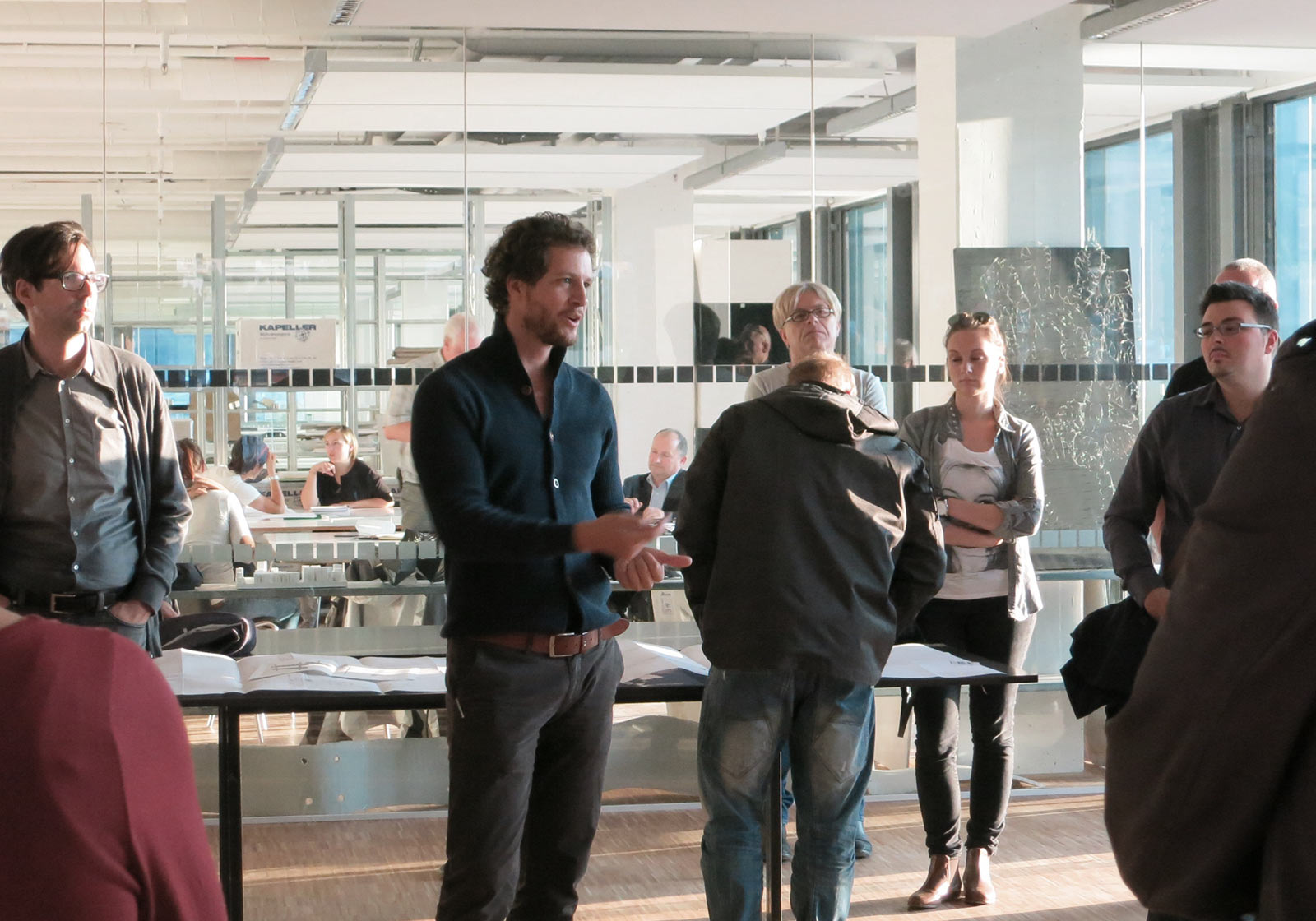 ATP architect Paul Ohnmacht answers questions from interested visitors. Photo: ATP