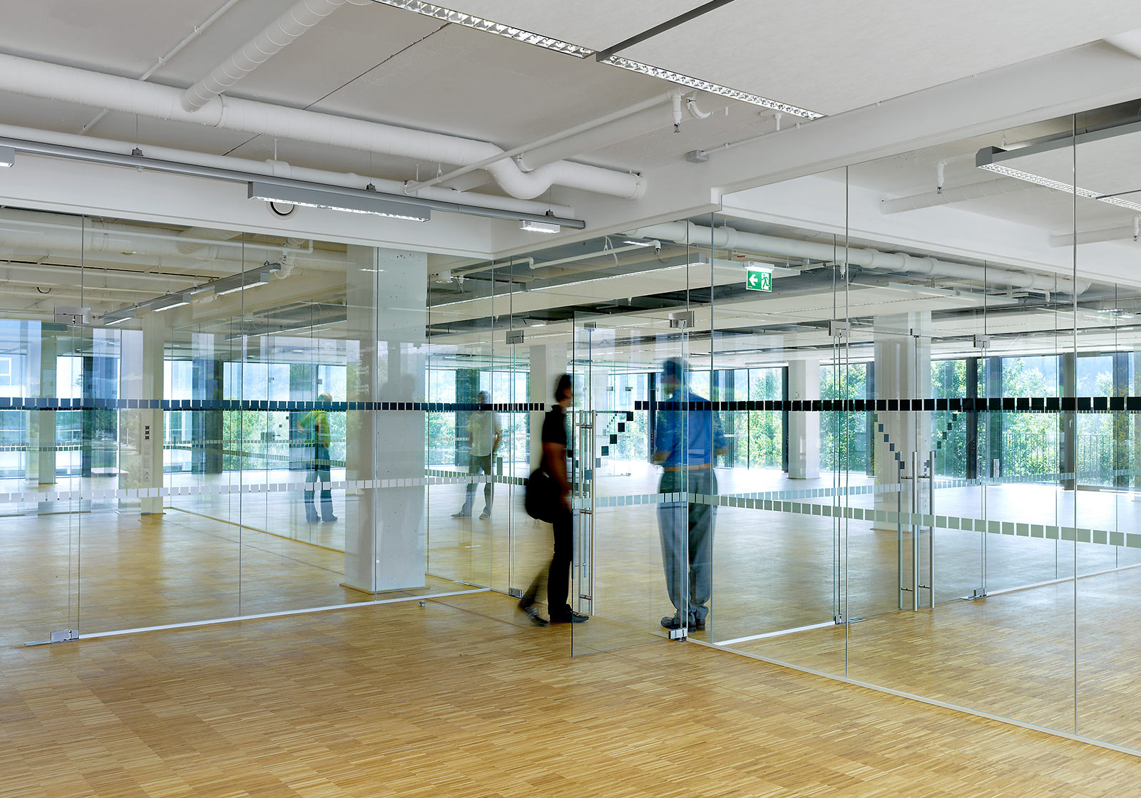 The full-height glazing, open ceilings and generous spatial configuration of the new studios. Photo: ATP/Jantscher