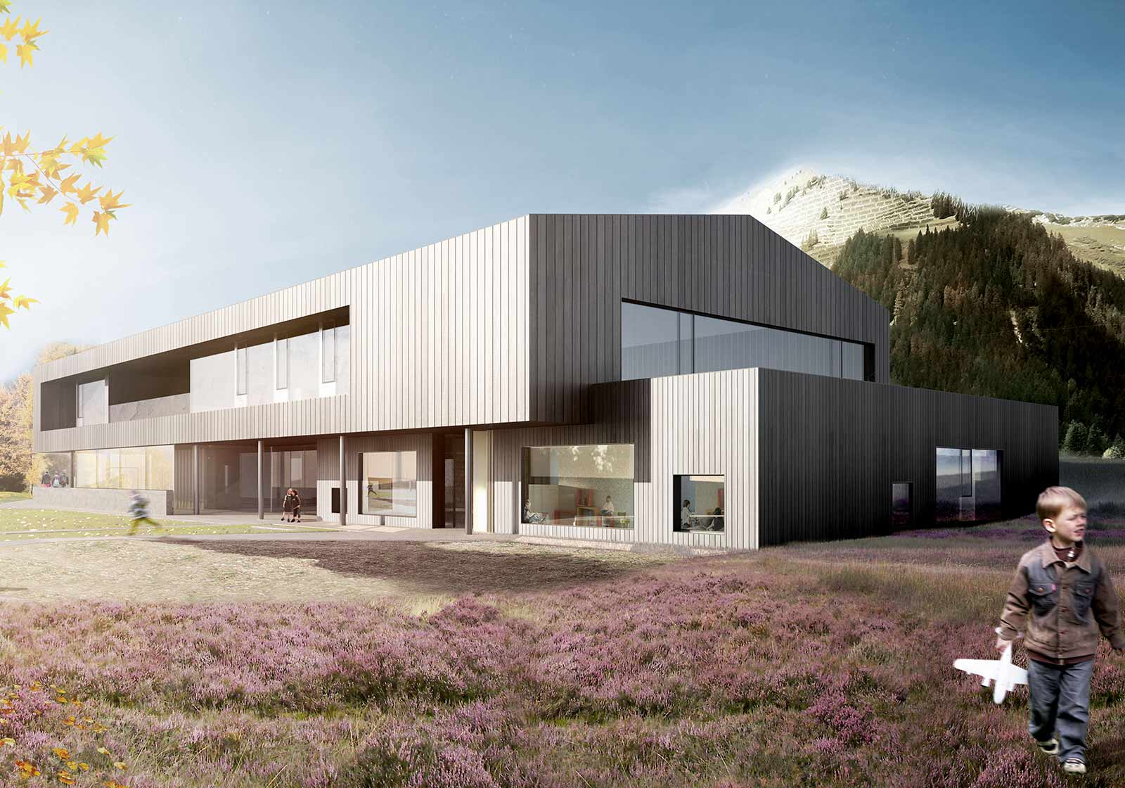 Dominated by timber and glass. Visualization: ATP/sonaar