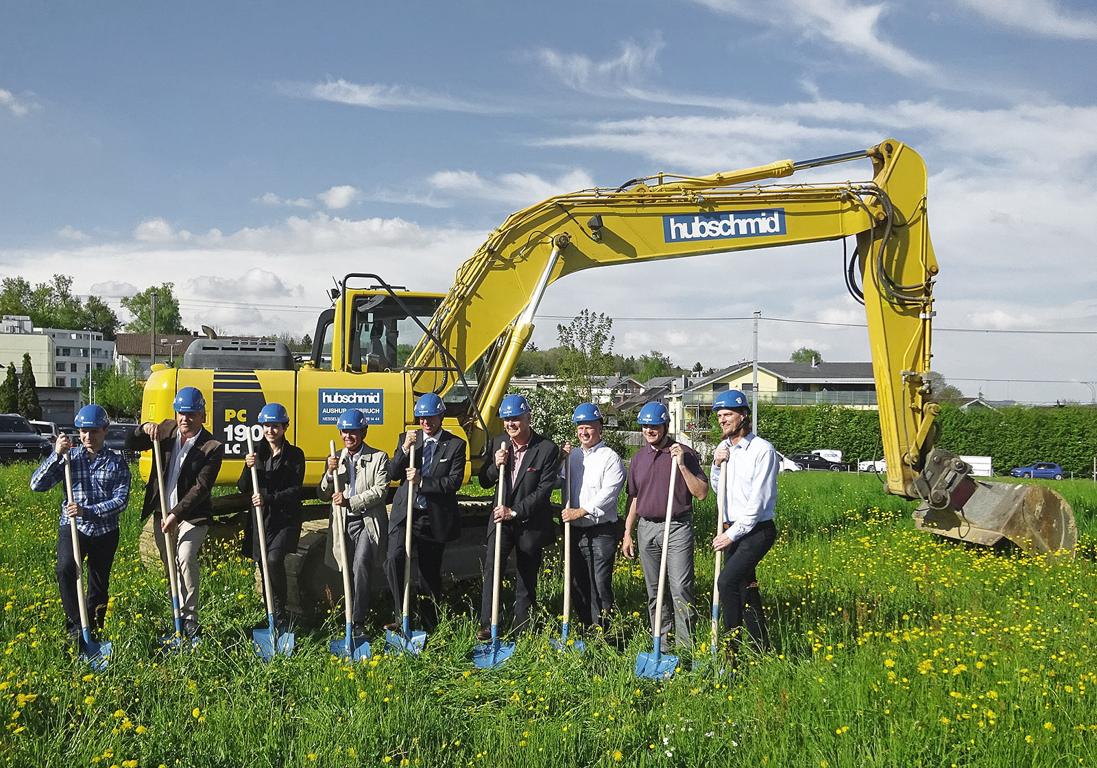 Alfred Wegmann, ATP's partner in Zurich (4th from right) at the groundbreaking ceremony. Photo: ATP