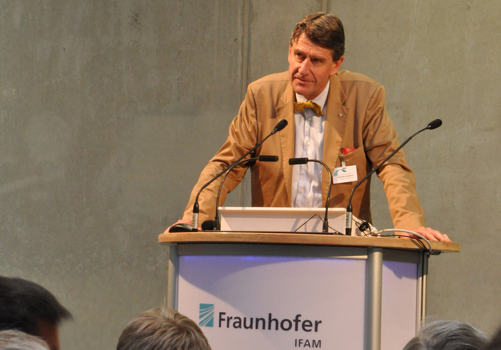 ATP-CEO Christoph M. Achammer sprach die Grußworte. Foto. ATP