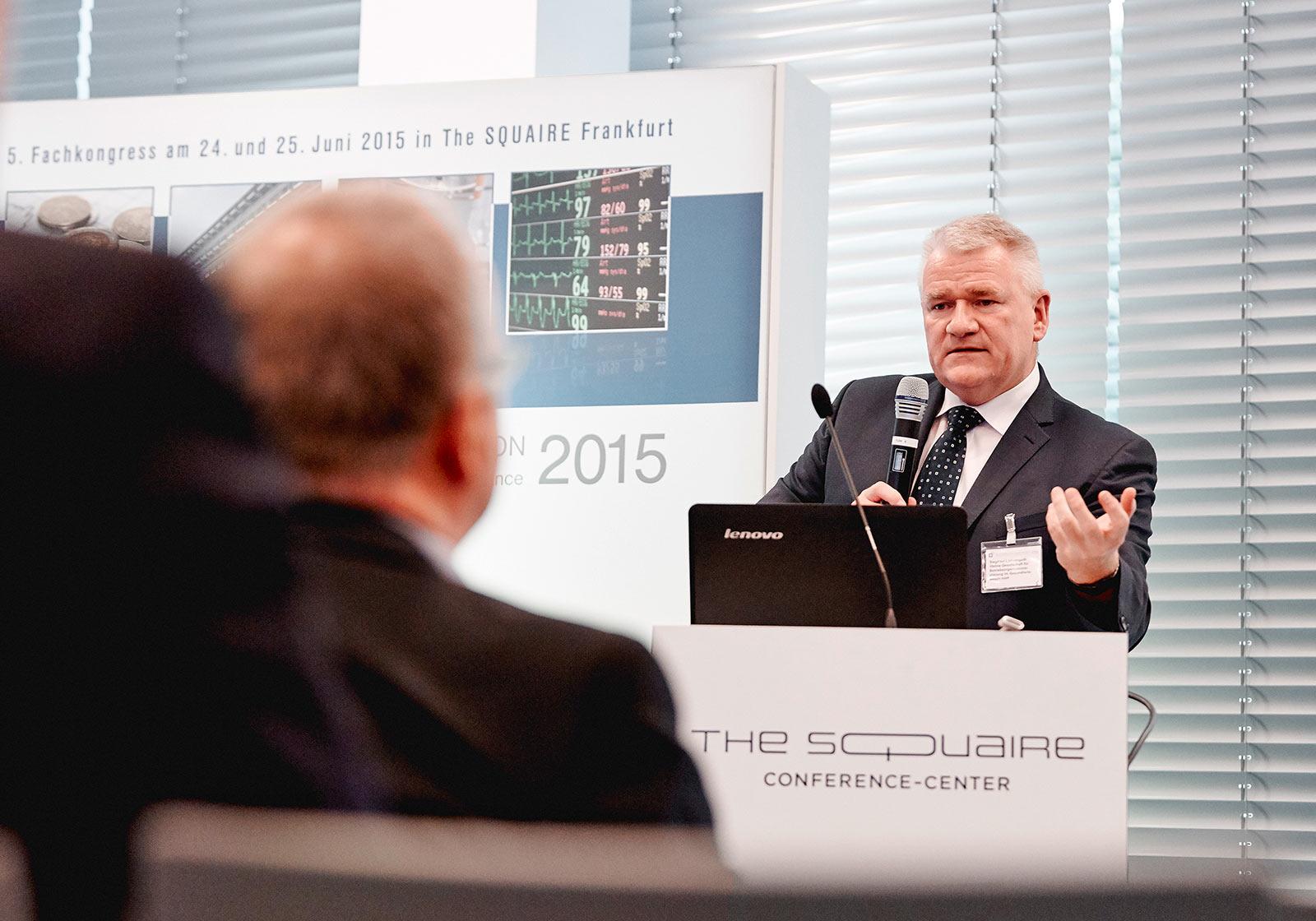 "Norbert Helmus, ATP health moderates the block ""Interior Architecture and Design"". Photo: ATP/Becker Lacour"