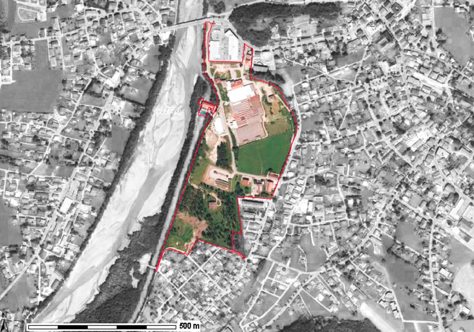 Plan zur Verbauung des RTW Areals. Plan: ATP