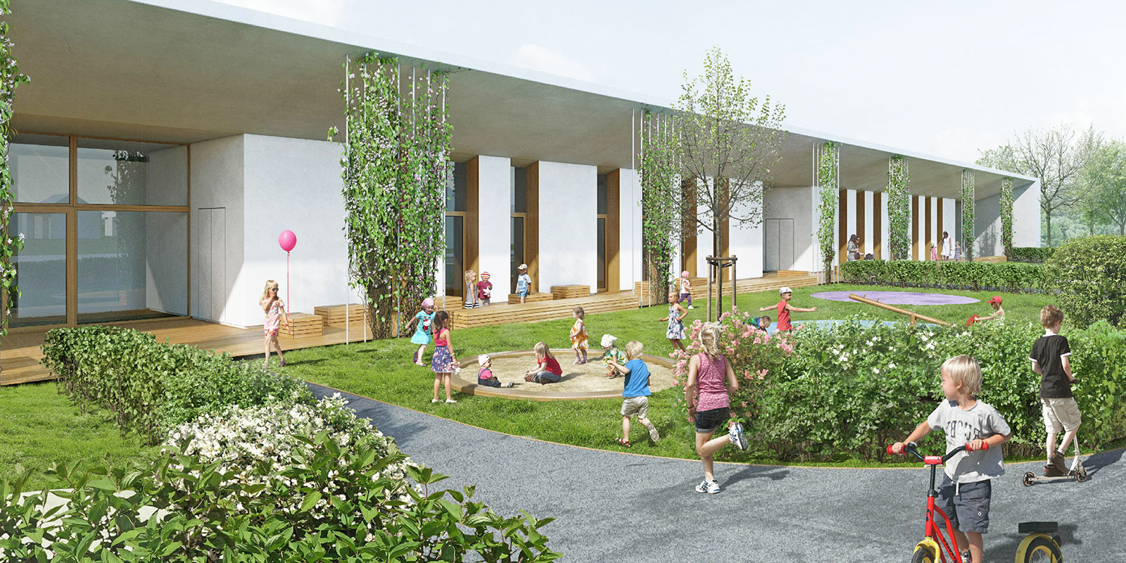 Innovative concept for the Miratorg company kindergarten. Visualization: ATP TLP