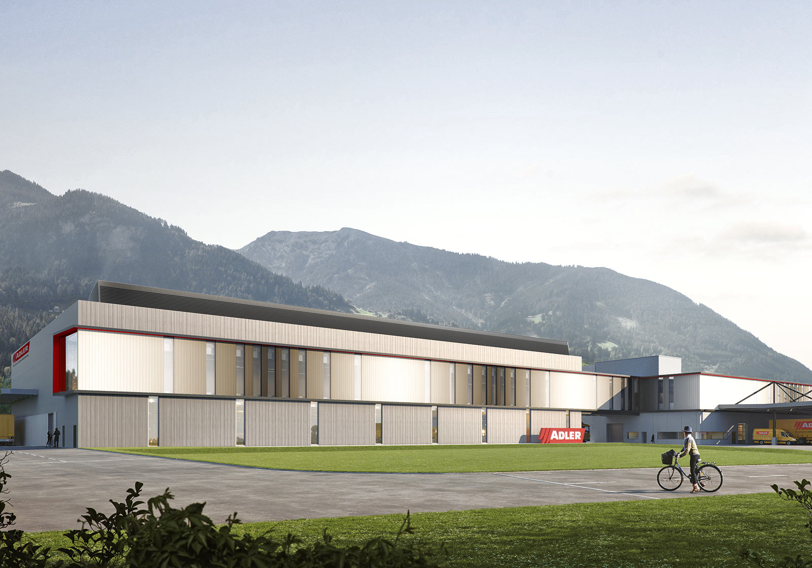 The future appearance of the state-of-the-art production building. Photo: ADLER