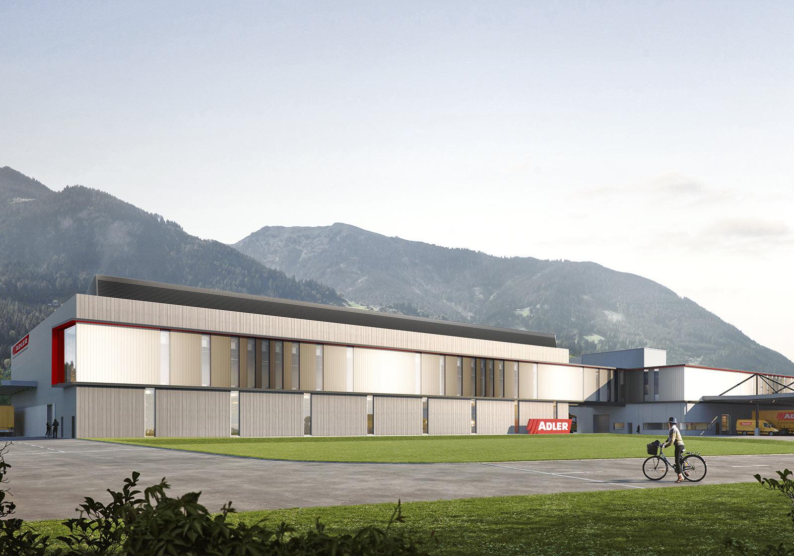So wird das hochmoderne Produktionsgebäude aussehen. Foto: ADLER
