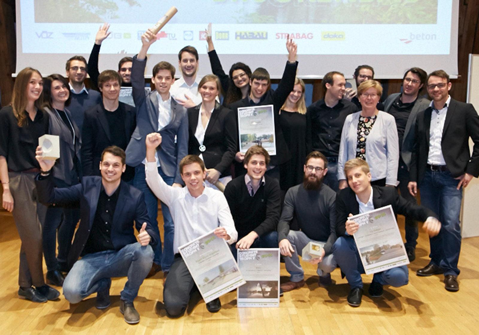 Междисциплинарное взаимодействие – лучшим студентам были присвоены награды в конкурсе Concrete Student Trophy 2015. Фото: IG Lebenszyklus
