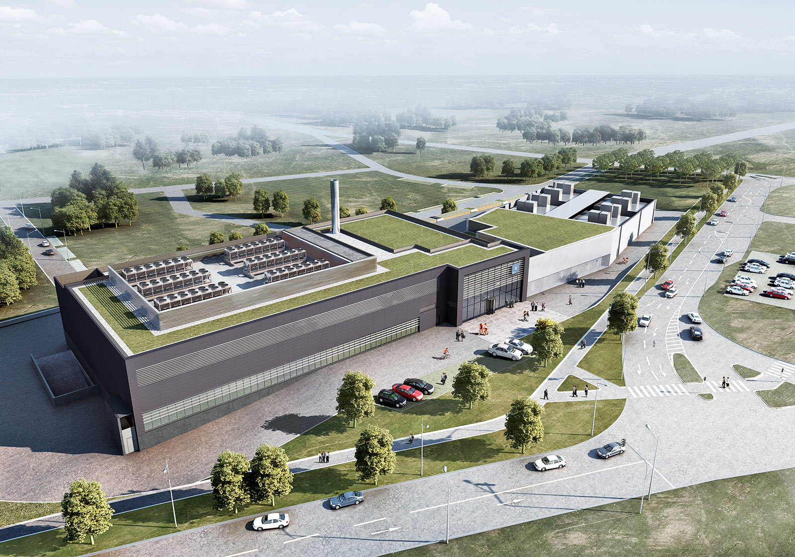 Das neue AVL Tech Center in Bietigheim-Bissingen. Visualisierung: ATP