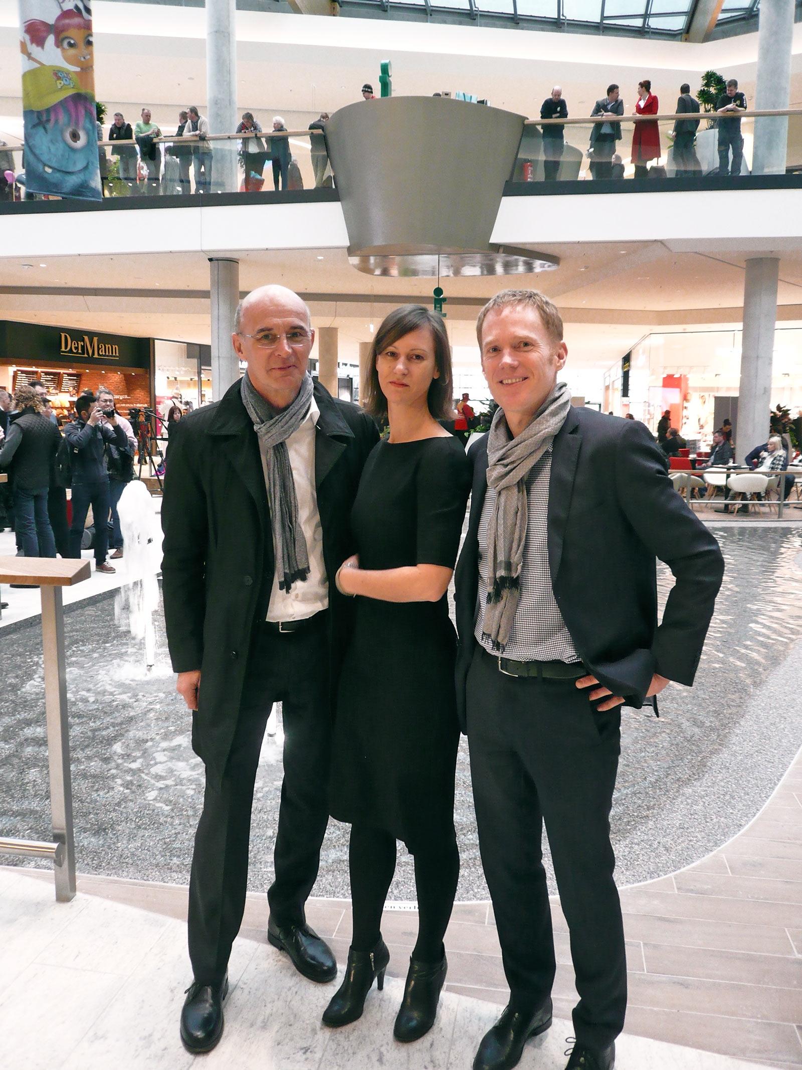 Architekt Heinz Lindner (ATP Wien), Architektin Sabine Holzweber (ATP Wien), Architekt Ruprecht Melder (Chapman Taylor)