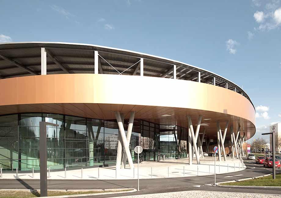 Neues architektonisches Kleid für den Traisenpark. Foto: ATP/Kuball