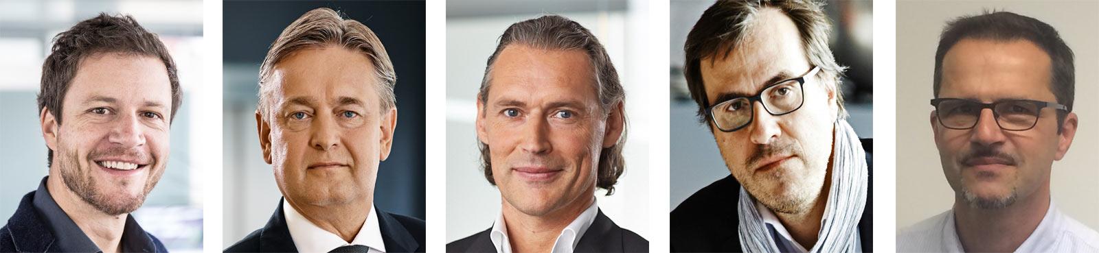 v.l.: Paul Ohnmacht, Dario Travas, Klaus Schmidt, Florian Beck, Christoph Schmid