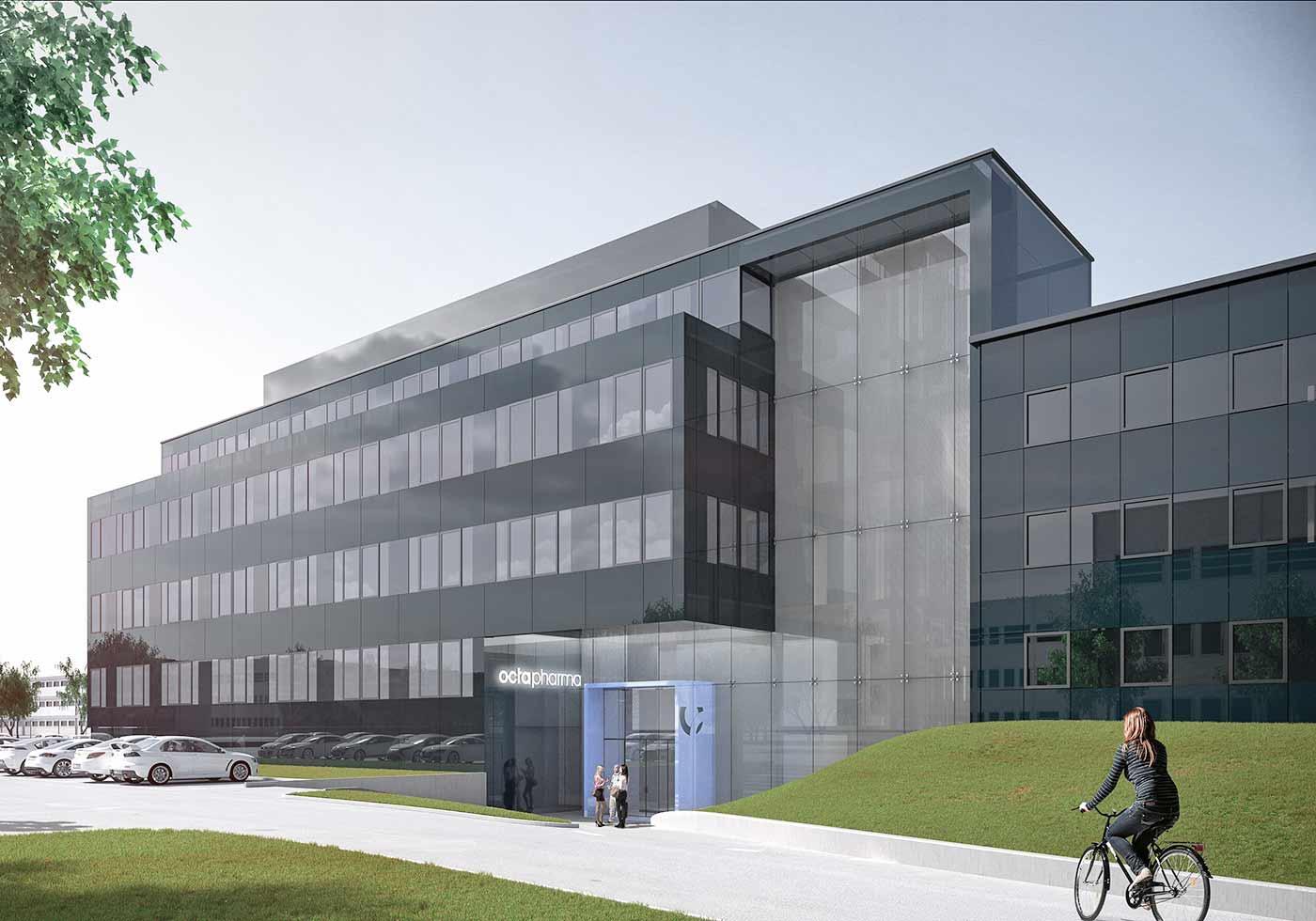 Das neue R&D Gebäude. Visualisierung: ATP