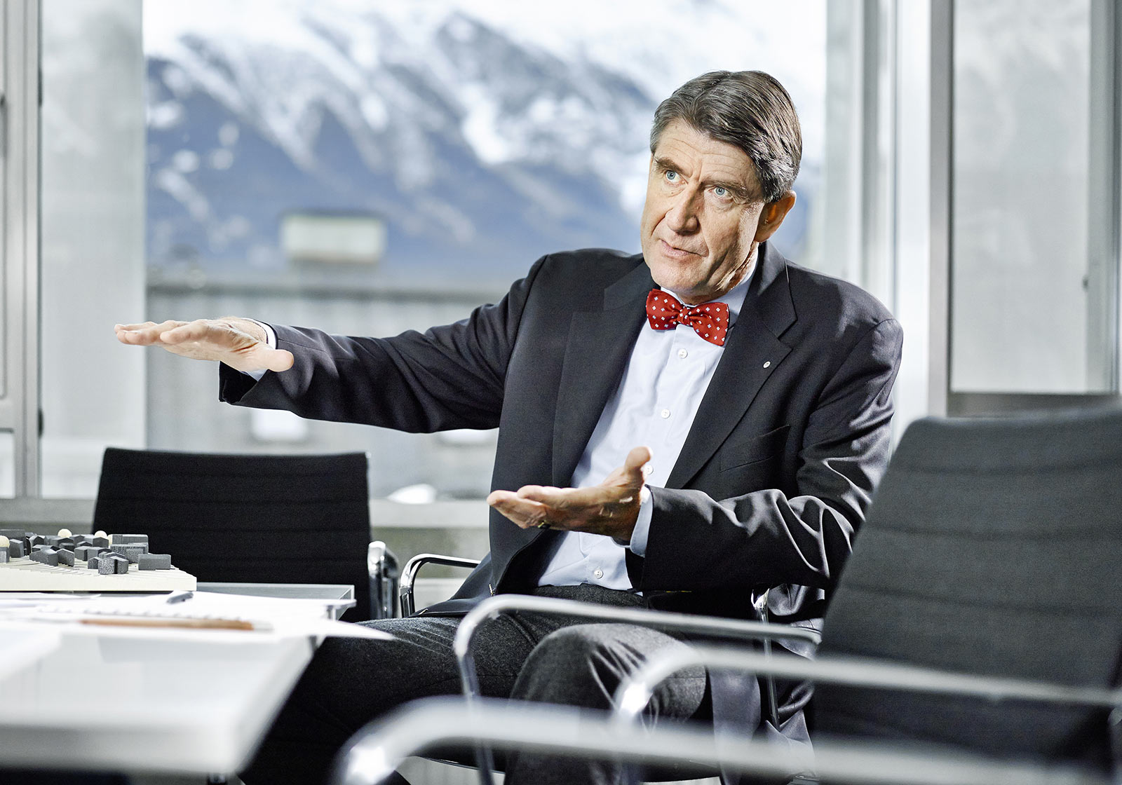 Professor Christoph M. Achammer lectures online. Photo: ATP/Becker