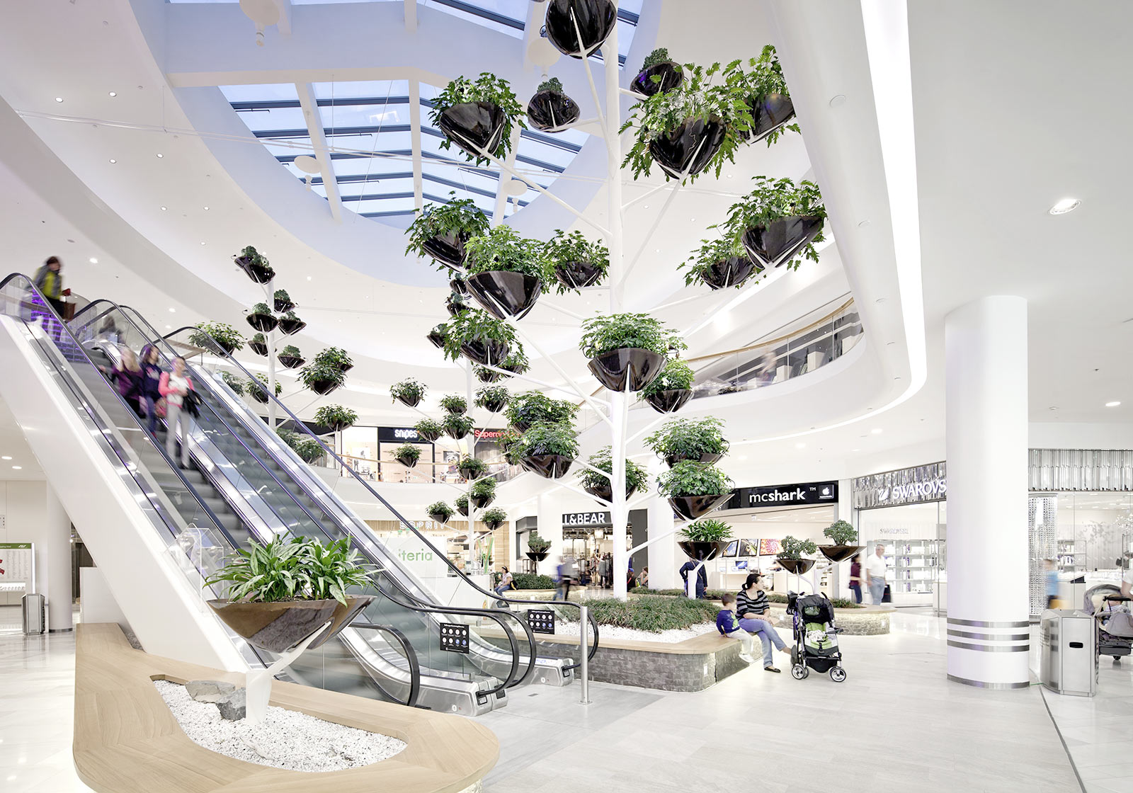 The concept is notable for its modern architecture, open spaces and greenery. Photo: ATP/Kuball