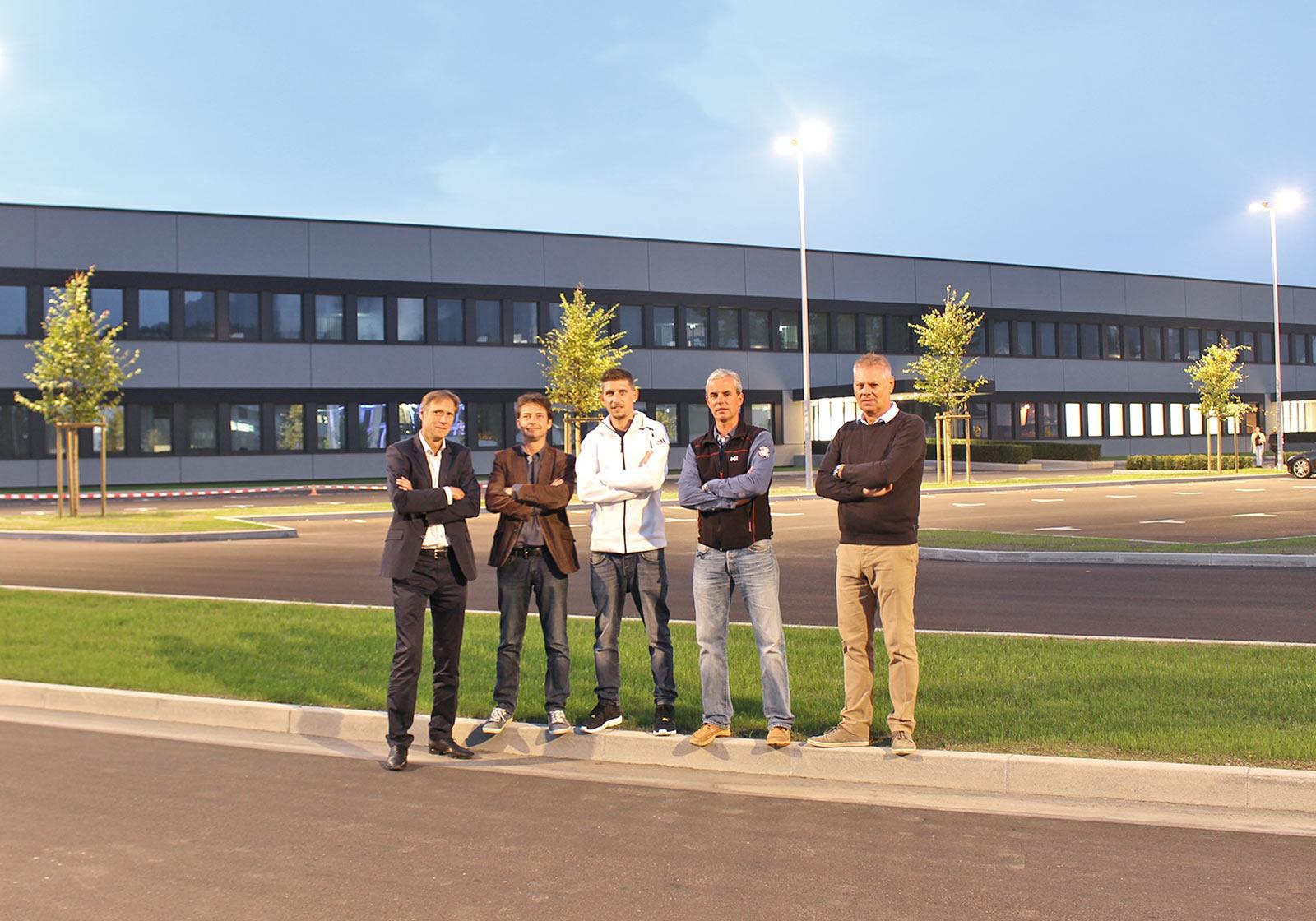 The project team from left: Peter Oberhuber, Albert Kompatscher, Stefan Plattner, Gerhard Zangerl, Emmerich Pircher. Photo: ATP