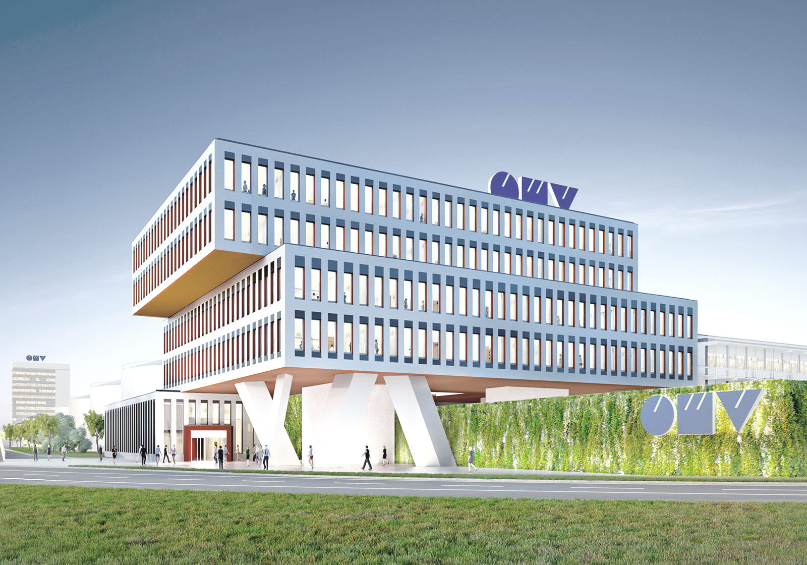 The new OMV office building in Schwechat. Visualization: Telegram 71, Giacomo Dodich