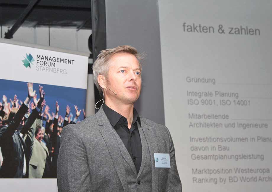 ATP-Architekt Martin Lukasser. Foto: Melanie Meinig/industrieBAU.