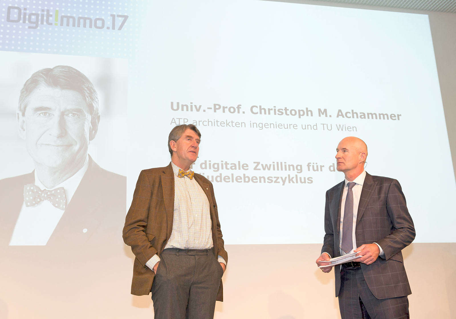 ATP CEO Christoph M. Achammer and moderator Steffen Lukesch. Photo: Marco Blessano