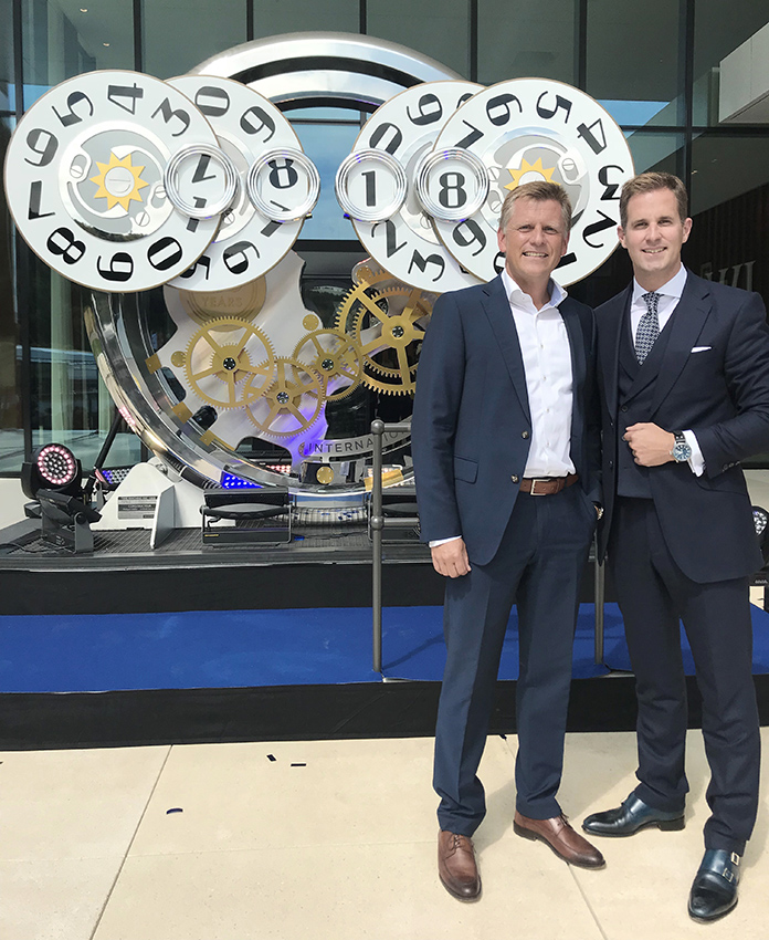 Opening of the IWC Manufacturing Center: (from left) Matthias Wehrle, ATP Partner in Zurich, with Christoph Grainger-Herr, CEO of IWC Schaffhausen. Photo: ATP